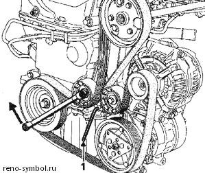 renault-symbol-гидроуселитель руля схема
