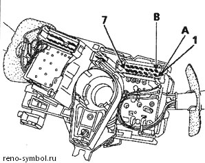 антенна иммобилайзера рено симбол