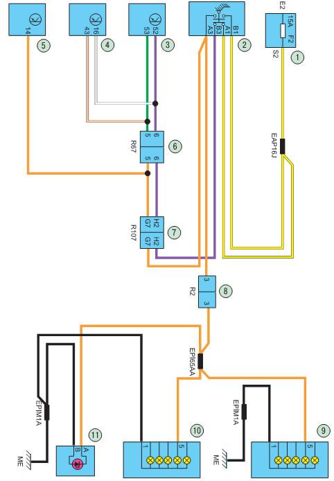 Схема 10. Стоп-сигналы: 1
