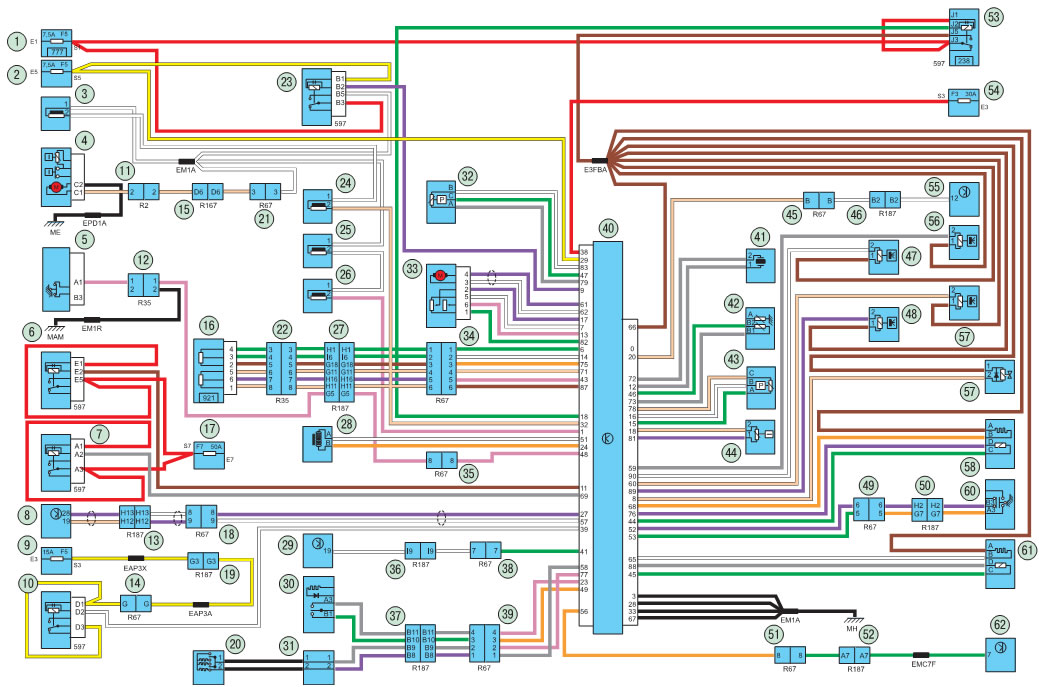 Рено симбол схема электропроводки