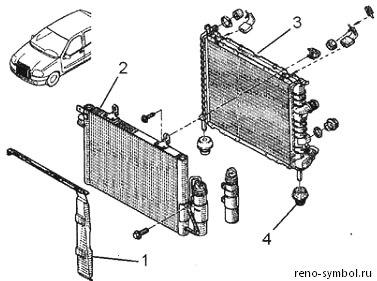 замена радиатора отопления renault symbol