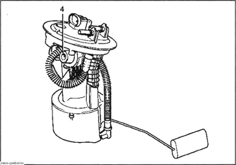 трубопровод возврата топлива renault symbol